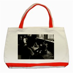 Vintage China Guilin Stone Sculpture Workshop 1970 Red Tote Bag by Vintagephotos