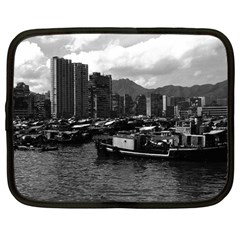 Vintage China Hong Kong Houseboats River 1970 12  Netbook Case by Vintagephotos