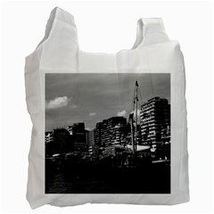 Vintage China Hong Kong Houseboats River 1970 Twin Sided Reusable Shopping Bag by Vintagephotos