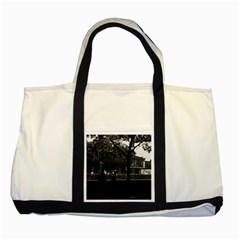 Vintage China Shanghai Yuyuan Garen Dianchun Hall 1970 Two Toned Tote Bag by Vintagephotos