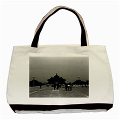 Vintage China Pekin Forbidden City Gate 1970 Twin-sided Black Tote Bag by Vintagephotos
