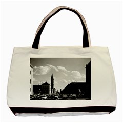Vintage Germany Ludwigstra?e University Ludwing Church Twin-sided Black Tote Bag by Vintagephotos