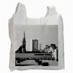 Vintage Germany Frankfurt Old Saint Nicholas Church Single Sided Reusable Shopping Bag by Vintagephotos