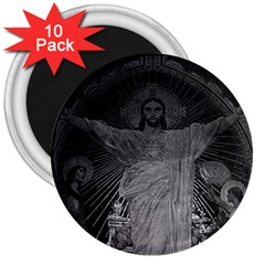 Vintage France Paris Sacre Coeur Basilica Dome Jesus 10 Pack Large Magnet (round) by Vintagephotos