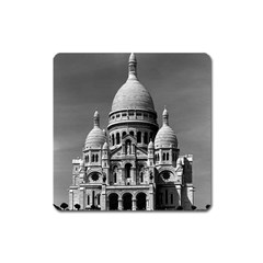 Vintage France Paris The Sacre Coeur Basilica 1970 Large Sticker Magnet (square) by Vintagephotos