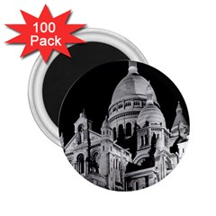 Vintage France Paris The Sacre Coeur Basilica 1970 100 Pack Regular Magnet (round) by Vintagephotos