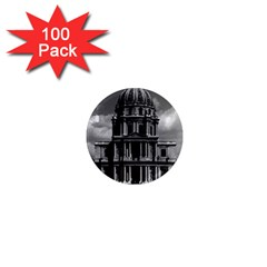 Vintage France Paris Church Saint Louis Des Invalides 100 Pack Mini Magnet (round) by Vintagephotos