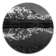 Vintage Usa  Alaska Magnificent Mt Mckinley 1970 Extra Large Sticker Magnet (round) by Vintagephotos