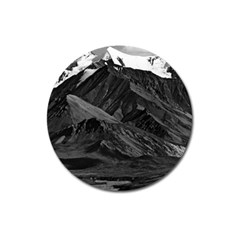 Vintage Usa  Alaska Mt Mckinley National Park 1970 Large Sticker Magnet (round) by Vintagephotos