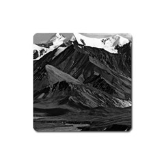 Vintage Usa  Alaska Mt Mckinley National Park 1970 Large Sticker Magnet (square) by Vintagephotos