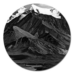 Vintage Usa  Alaska Mt Mckinley National Park 1970 Extra Large Sticker Magnet (round) by Vintagephotos