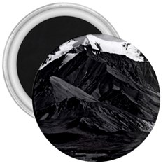 Vintage Usa  Alaska Mt Mckinley National Park 1970 Large Magnet (round) by Vintagephotos