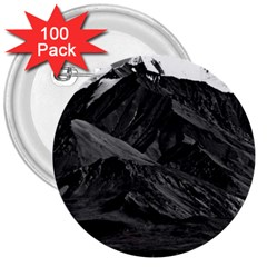 Vintage Usa  Alaska Mt Mckinley National Park 1970 100 Pack Large Button (round) by Vintagephotos