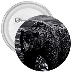 Vintage Usa Alaska Brown Bear 1970 Large Button (round) by Vintagephotos