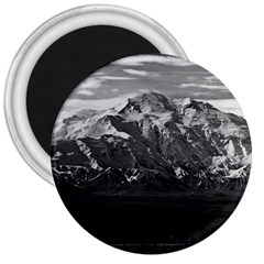 Vintage Usa Alaska Beautiful Mt Mckinley 1970 Large Magnet (round) by Vintagephotos