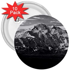 Vintage Usa Alaska Beautiful Mt Mckinley 1970 10 Pack Large Button (round) by Vintagephotos