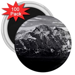 Vintage Usa Alaska Beautiful Mt Mckinley 1970 100 Pack Large Magnet (round) by Vintagephotos