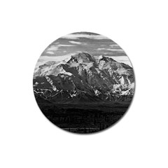 Vintage Usa Alaska Beautiful Mt Mckinley 1970 Large Sticker Magnet (round) by Vintagephotos