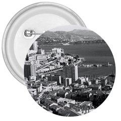 Vintage Principality Of Monaco  The Port Of Monte Carlo Large Button (round)