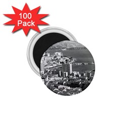 Vintage Principality Of Monaco  The Port Of Monte Carlo 100 Pack Small Magnet (round) by Vintagephotos