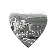 Vintage Principality Of Monaco  The Port Of Monte Carlo Large Sticker Magnet (heart) by Vintagephotos