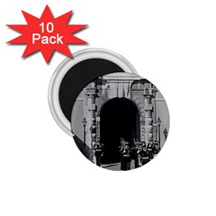 Vintage Principality Of Monaco Palace Gate And Guard 10 Pack Small Magnet (round) by Vintagephotos