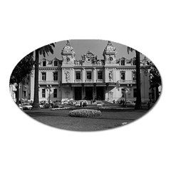 Vintage Principality Of Monaco Monte Carlo Casino Large Sticker Magnet (oval) by Vintagephotos