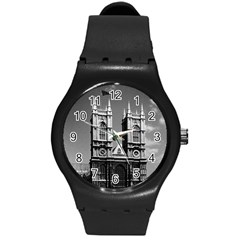 Vintage Uk England London Westminster Abbey 1970 Round Plastic Sport Watch Medium by Vintagephotos