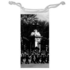 Vintage England London Changing Guard Buckingham Palace Glasses Pouch by Vintagephotos