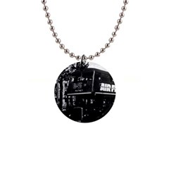 Vintage Uk England London Double Decker Bus 1970 Mini Button Necklace by Vintagephotos