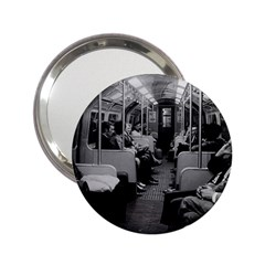Vintage Uk  England Railway Inside Coach 1970 Handbag Mirror by Vintagephotos