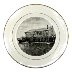 Cape Cod Porcelain Display Plate by heathergreen