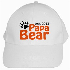 Papa Bear Claw 2013 White Baseball Cap by CleverestTees