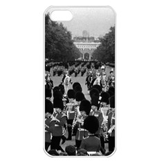 Vintage Uk England The Guards Returning Along The Mall Apple Iphone 5 Seamless Case (white) by Vintagephotos
