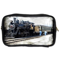The Steam Train Single Sided Personal Care Bag by AkaBArt