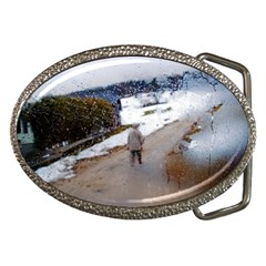Rainy Day, Salzburg Belt Buckle (oval)