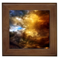 Cloudscape Framed Ceramic Tile by artposters