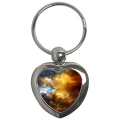 Cloudscape Key Chain (heart) by artposters