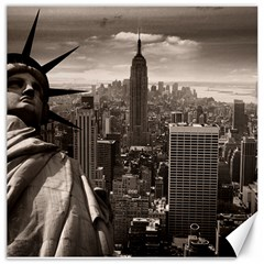 Statue Of Liberty, New York 16  X 16  Unframed Canvas Print