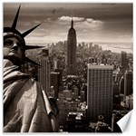 Statue of Liberty, New York 16  x 16  Unframed Canvas Print 16 x16 Canvas - 1