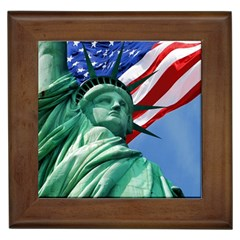 Statue Of Liberty, New York Framed Ceramic Tile by artposters
