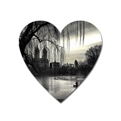 Central Park, New York Large Sticker Magnet (heart) by artposters