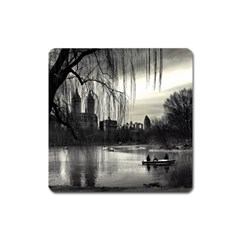 Central Park, New York Large Sticker Magnet (square) by artposters