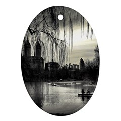 Central Park, New York Ceramic Ornament (oval) by artposters