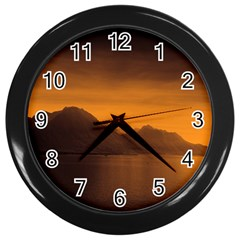 Waterscape, Switzerland Black Wall Clock by artposters