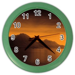 Waterscape, Switzerland Colored Wall Clock by artposters