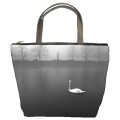 Swan Bucket Handbag by artposters