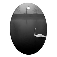 Swan Oval Ornament (two Sides) by artposters