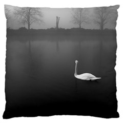 Swan Large Cushion Case (one Side)