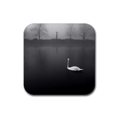 Swan Rubber Drinks Coaster (square)